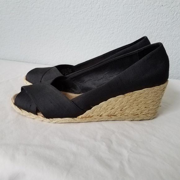 1686c661af4a Lauren Ralph Lauren Shoes - Ralph Lauren Cecilia black Wedge Espadrilles
